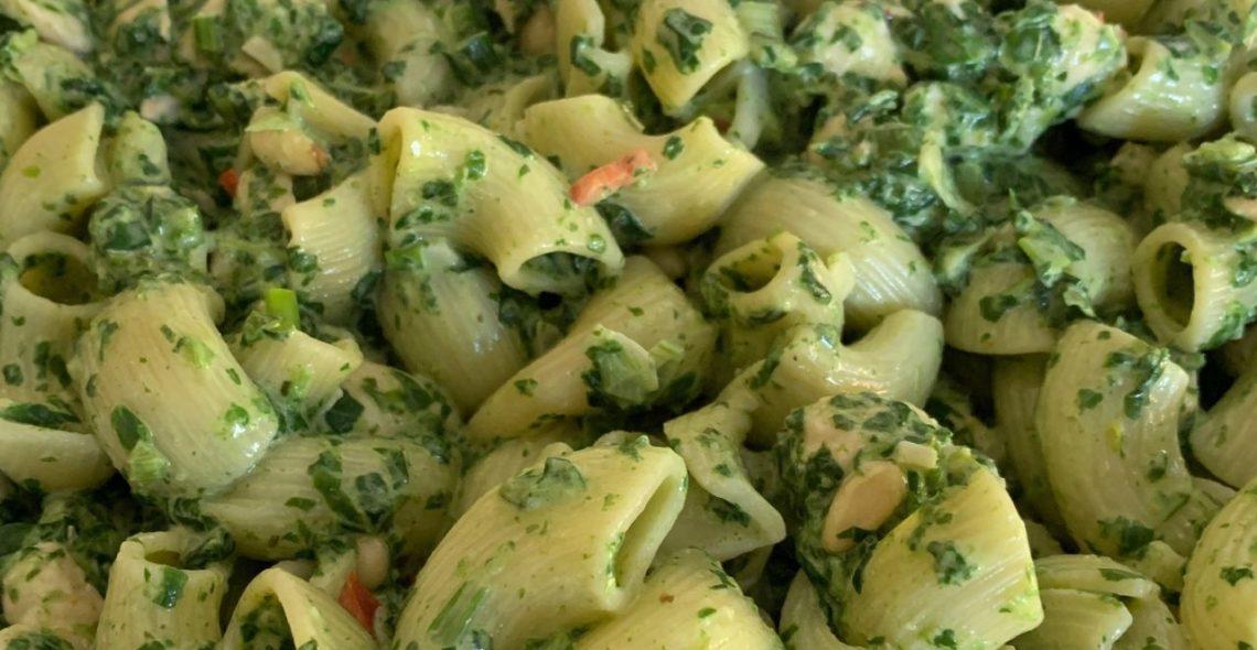 Spinazie-pasta uit de oven