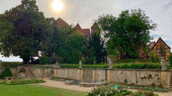 De kasteelberg in Quedlinburg